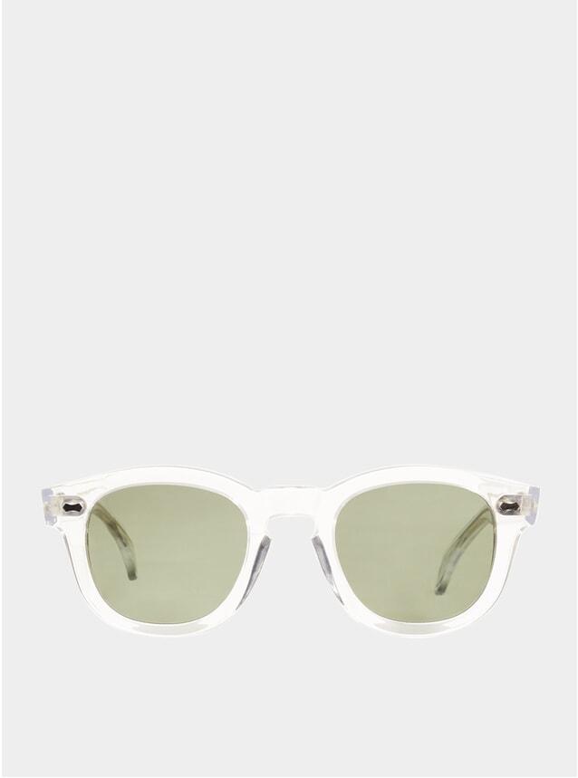 Transparent / Bottle Green Donegal Sunglasses
