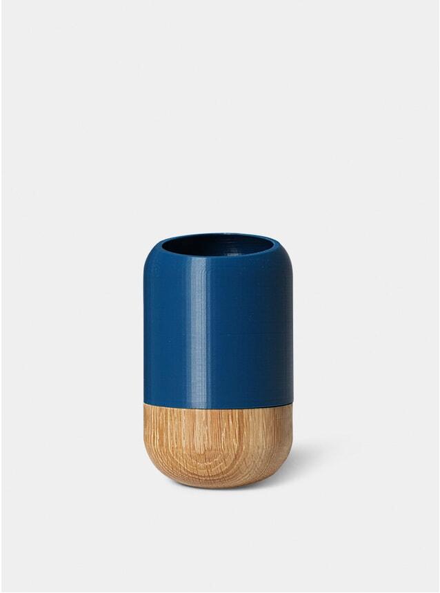 Dark Blue Half Cut Cylinder