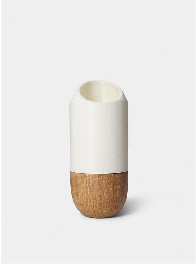 White Half Cut Bottle