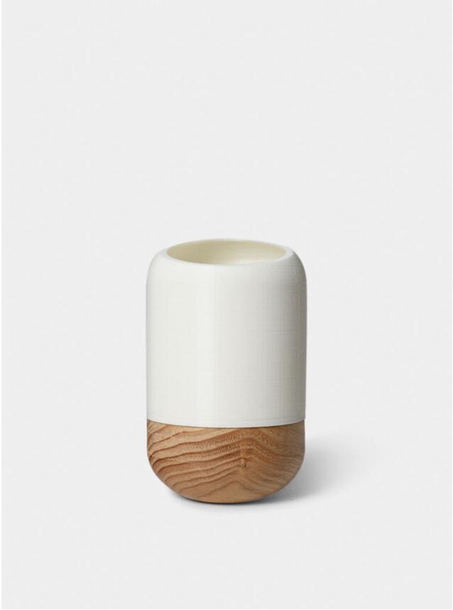 White Half Cut Cylinder