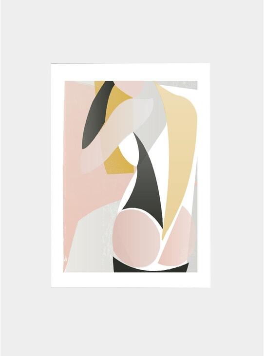 Abstract Nude Print