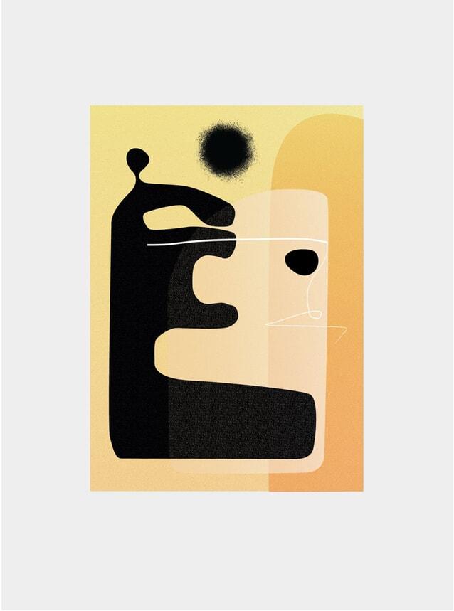 Yellow Silhouette Print