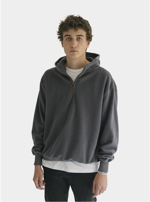 Dark Grey Fleece Hoodie