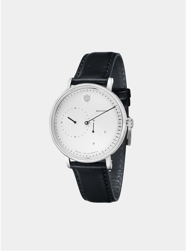 Aalto Automatic Regulator Black / White Watch