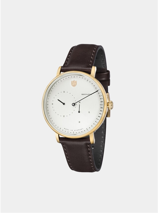 Aalto Automatic Regulator Brown / Gold Watch