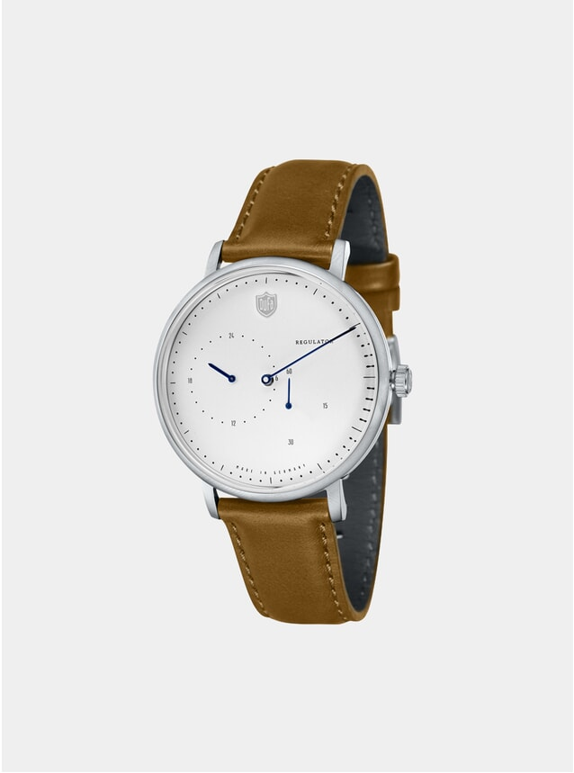 Aalto Automatic Regulator Brown / White Watch