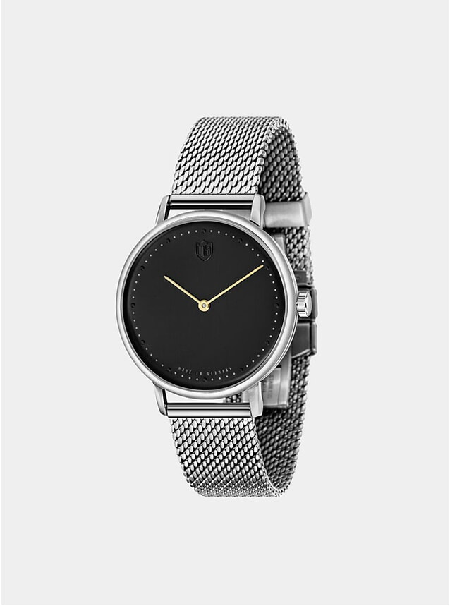Black / Stainless Gropius 2H Steel Mesh Watch
