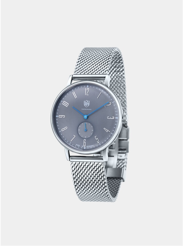 Gropius Grey / Stainless Steel Mesh Watch