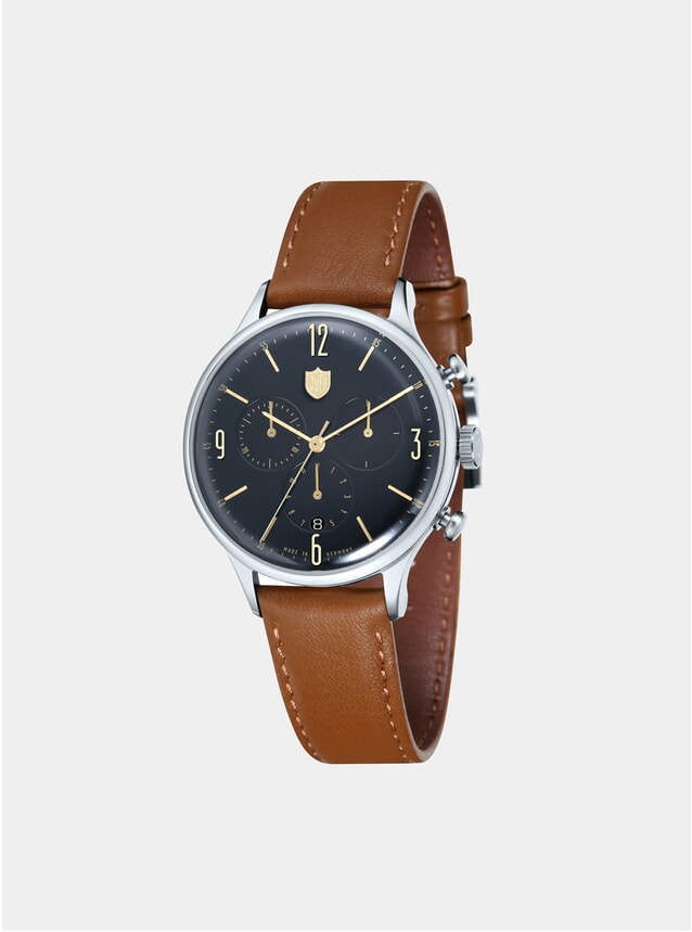 Van Der Rohe Chrono Black / Brown Watch