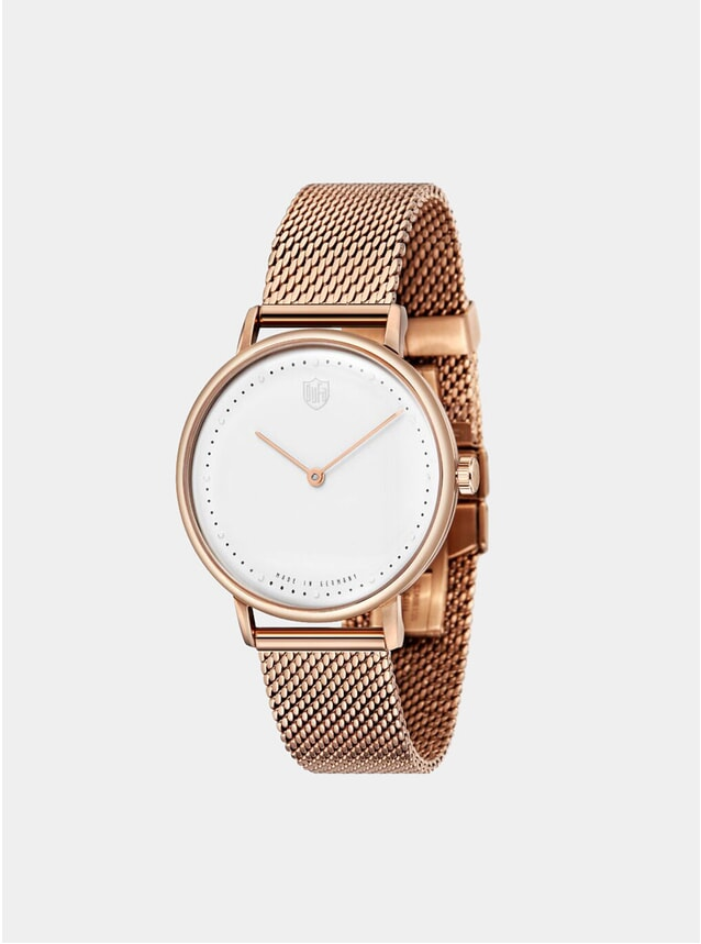 White / Rose Gold Gropius 2H Mesh Watch