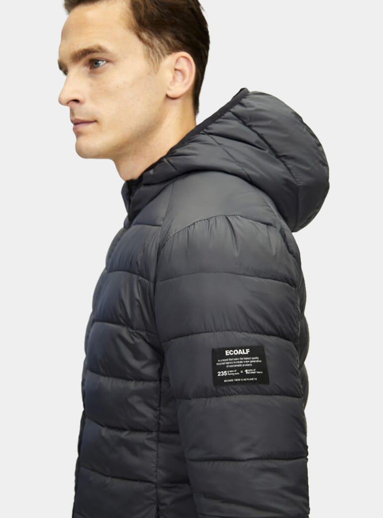 Ecoalf Asphalt Hooded Plumphal Jacket