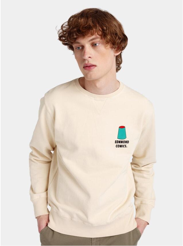 Plain Beige Geo Surf Sweatshirt