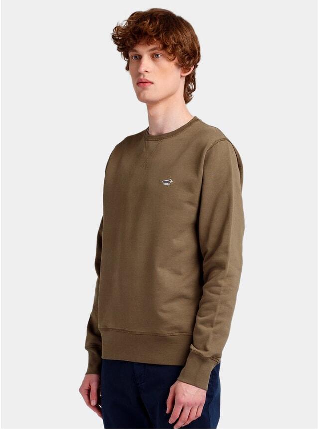 Plain Green Duck Patch Sweatshirt