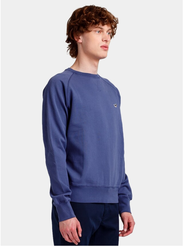 Plain Indigo Duck Patch Sweatshirt