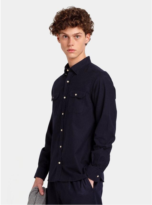Plain Navy Mountain Shirt