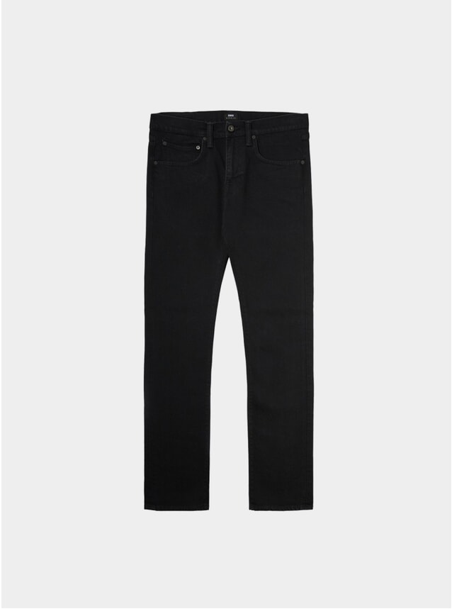 Black Denim ED-55 Regular Tapered Jeans