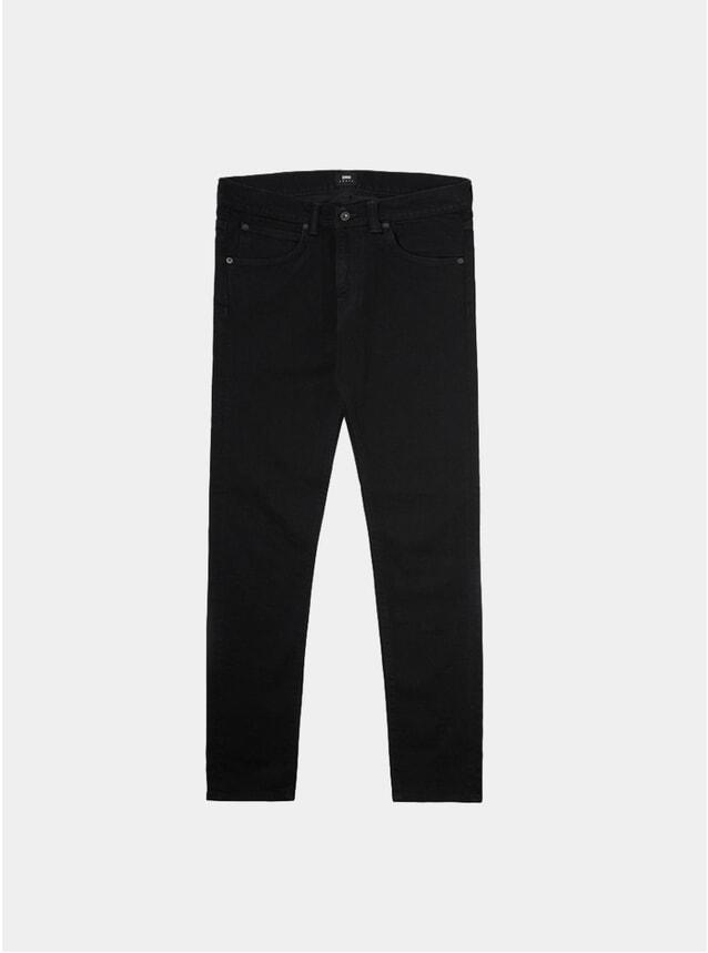 Black Denim Mineral Wash ED-85 Tapered Jeans