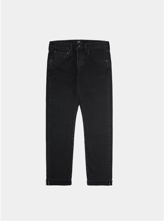 Black Denim Selvedge ED-55 Regular Tapered Jeans