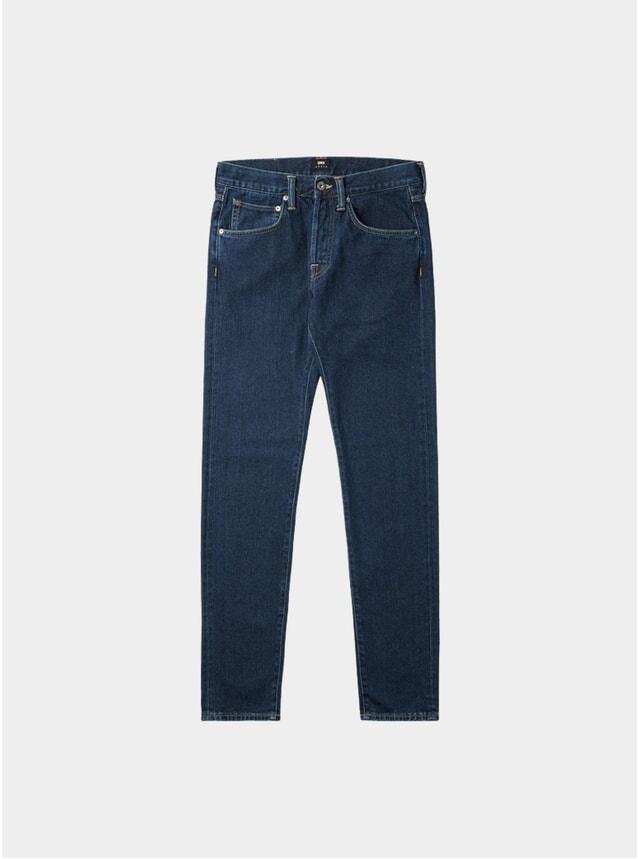 Blue Denim Rinsed ED-85 Slim Tapered Drop Crotch Jeans