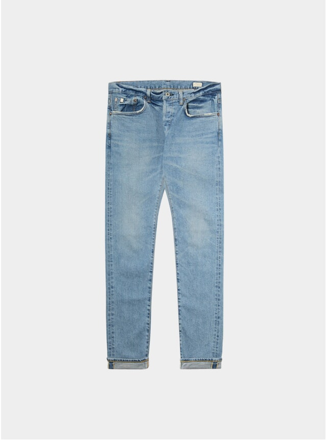 Light Used Selvedge Stretch Slim Tapered Jeans