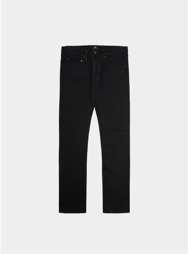 Rinsed Black Denim ED-55 Regular Tapered Jeans
