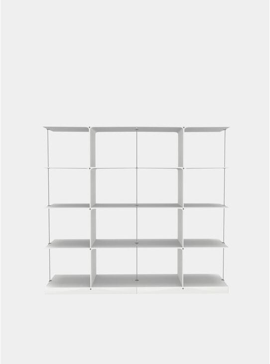 White Poise 4 x 2 Shelving System