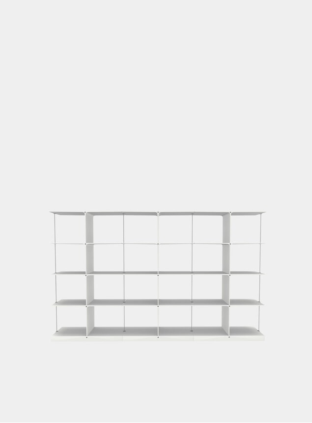 White Poise 4 x 3 Shelving System