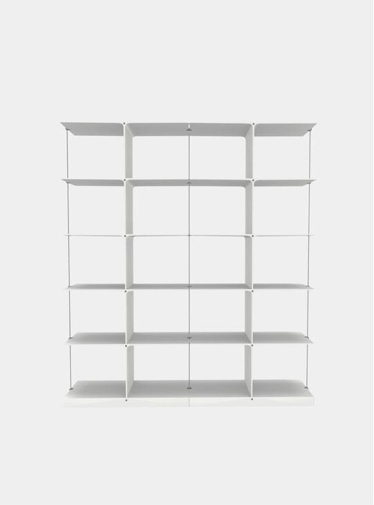 White Poise 5 x 2 Shelving System