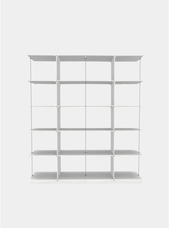 White Poise 5 x 2 Shelving System