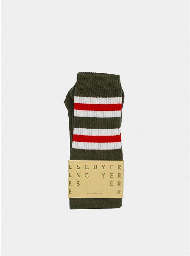 Dark Olive Tube Socks