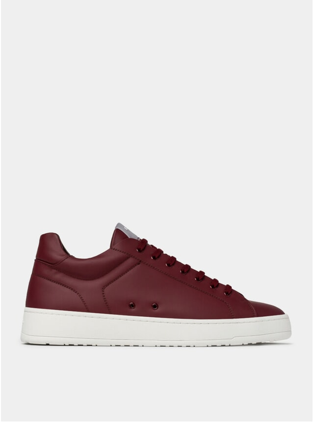 Maroon LT 04 Rubberized Sneakers