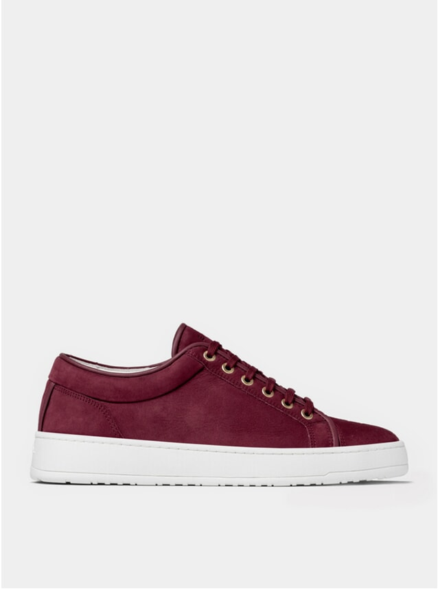 Maroon Waxed LT 01 Sneakers