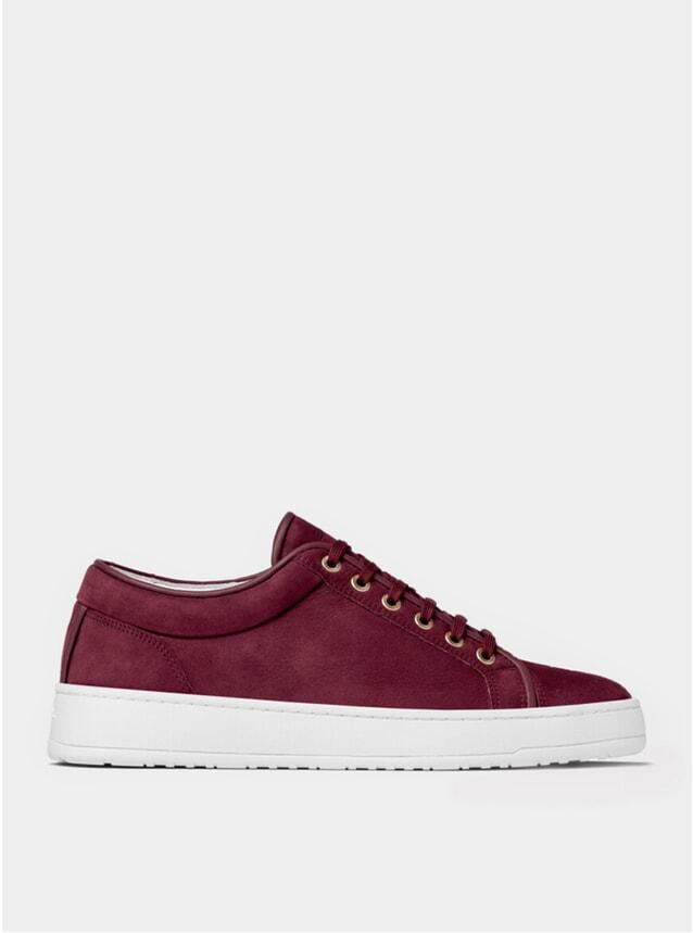 Maroon Waxed LT 01 Sneakers