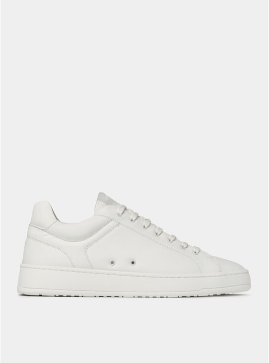 White LT 04 Rubberized Sneakers
