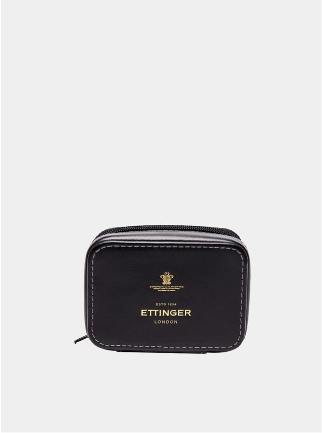 Black Small Travel Zip Box