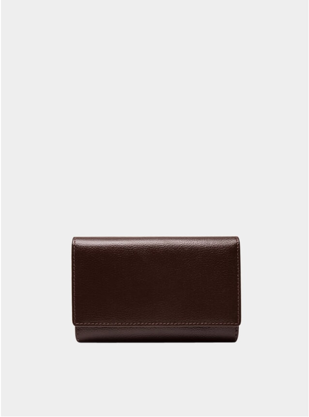 Chocolate Mid Flap-Over Capra Purse