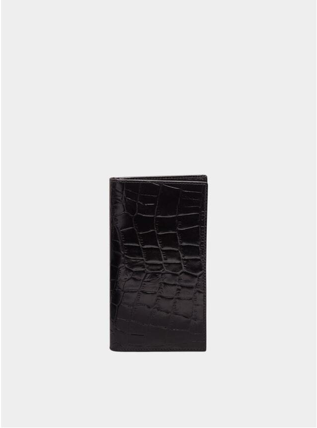 Ebony / Black Croco Billfold Wallet