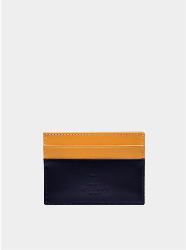Navy / London Tan Bridle Hide Flat Credit Card Case