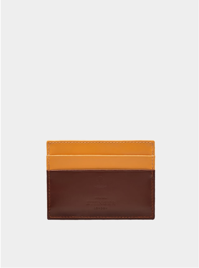 Nut / London Tan Bridle Hide Credit Card Case