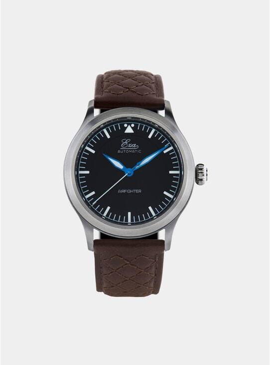 Black / Quilted Brown Airfighter Watch
