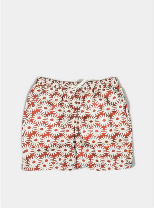 Red Epik Printed Swim Shorts