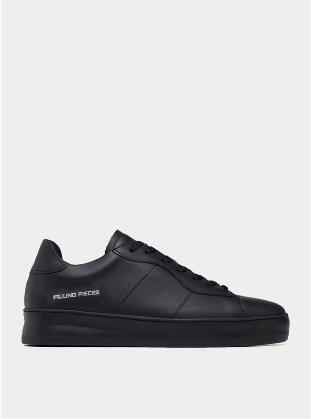 All Black Light Plain Court Sneakers