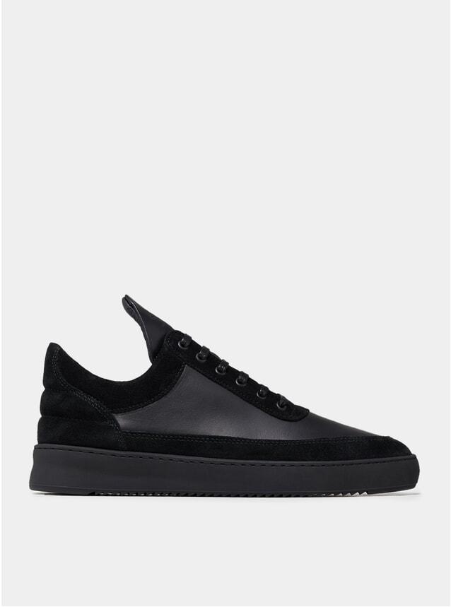 All Black Low Top Ejura Ripple Sneakers