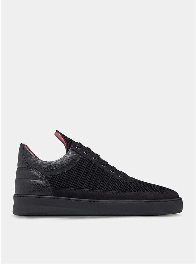 All Black Low Top Plain Infinity Sneakers