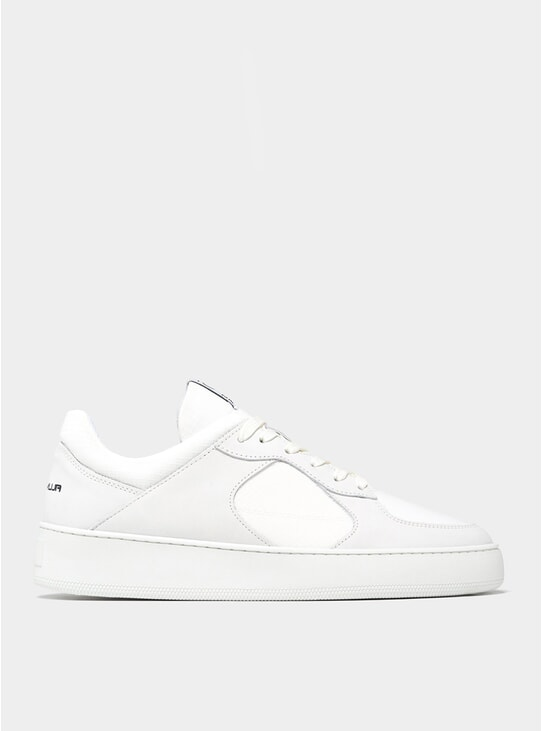 All White Low Cage GF Sneakers