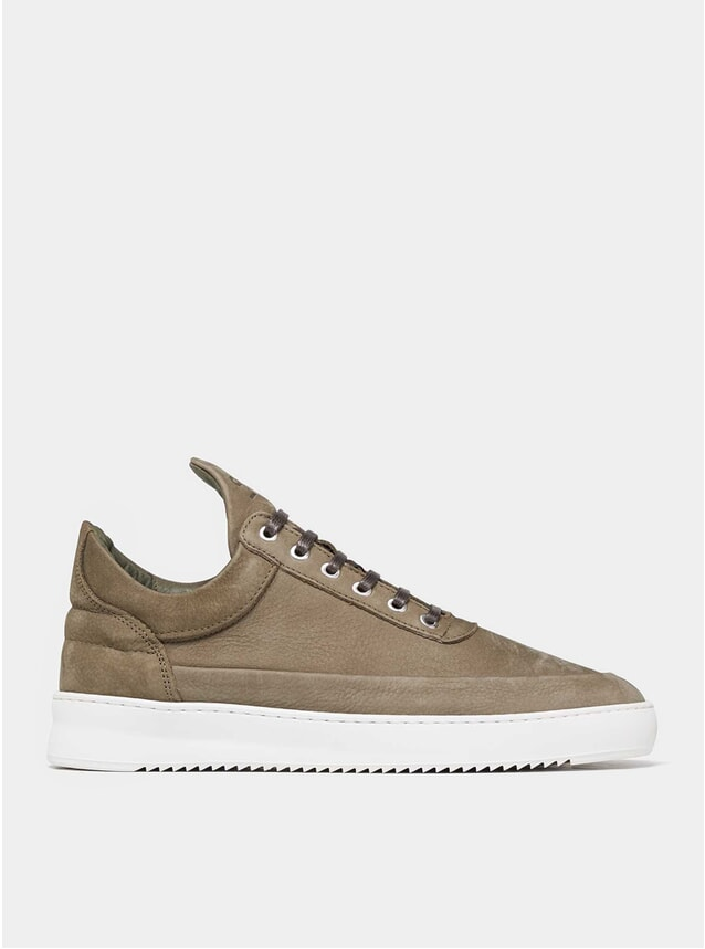 Army Green Low Top Ripple Cairos Sneakers
