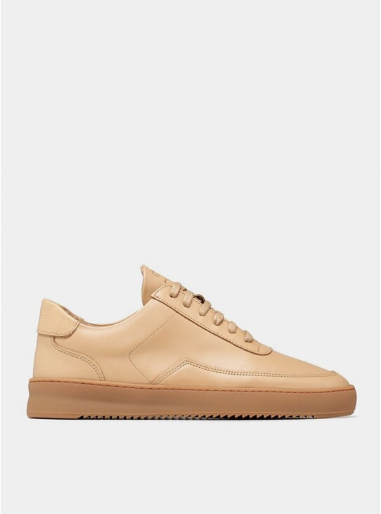 Beige Nappa Low Mondo Ripple Nardo Sneaker