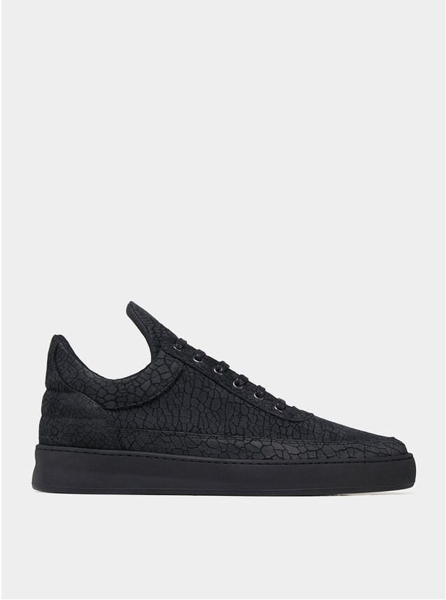 Black Ceres Low Top Plain Sneakers