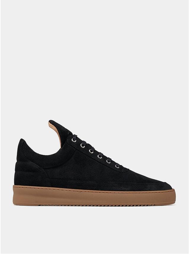 Black / Gum Low Top Ripple Sneakers