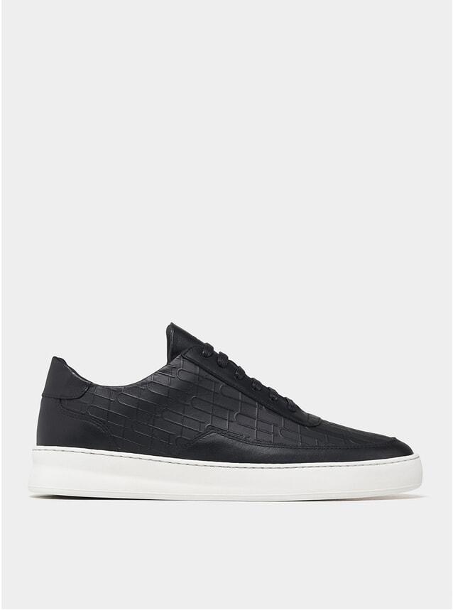 Black Low Top Mondo Plain Sneakers